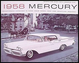 1958 Mercury BIG Prestige Brochure, Monterey Park Lane Montclair 58 - $29.43