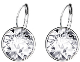 Xuping Mother's Day Sparkle Hoop Earrings Crystals from Swarovski Women Girl Par - $45.09