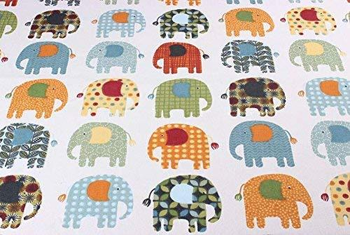 [Elephant] 1.5M Wide Handmade Cotton Canvas Stripe Fabric (2x1.5M)