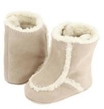 Nwt Baby Deer Veloursleder Pelz Kleinkind Mädchen Stiefel Schuhe Größen 0 & 2