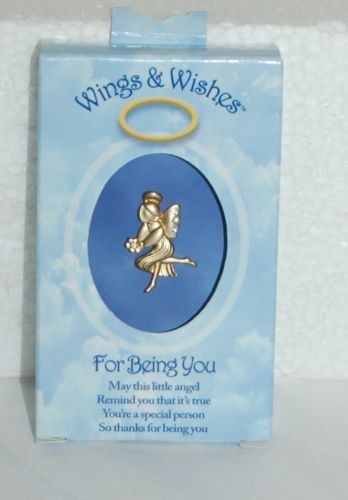 DM Merchandising Wings Wishes Being You Gold Colored Angel