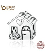 Authentic 925 Sterling Silver Love Heart House Charms Fit Bracelets - $32.99