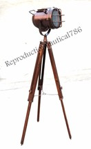 Vintage Industrial Spot Searchlight With Adjustable Nautical Tripod Floo... - $98.16