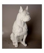 "Boxer Dog Statue Sculpture 30"" in Antique Stone finish - $197.01"