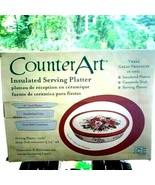VINTAGE NEW 3 in 1 Serving platter INSULATED liner platter CASSEROL dish - $39.60
