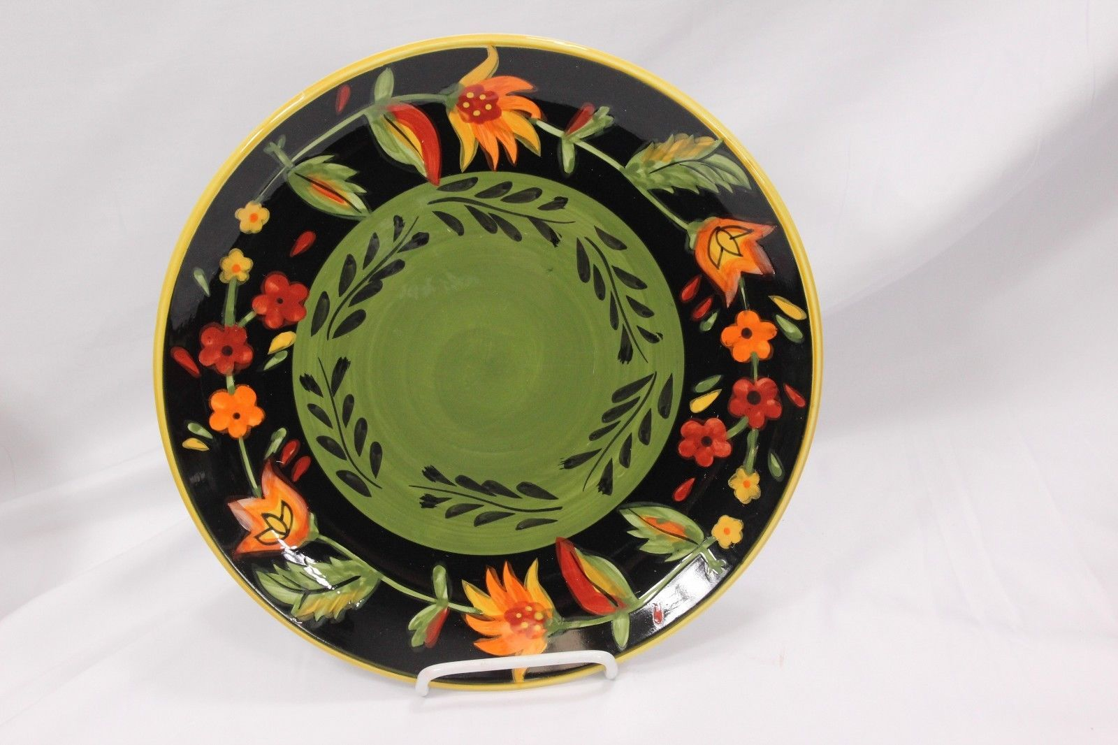 222 Fifth Arabian Flower Dinner and Salad Plates Lot of 11 Hand Painted image 3