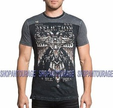 Affliction Silent Eagle Chrome A16809 New Short Sleeve Graphic T-shirt f... - $41.55+
