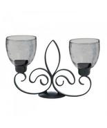 Fleur De Lis Duo Candle Stand - $35.47