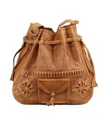 Moroccan Bag Boho Leather Tote Shoulder Bag, Handmade Satchel Moroccan Bag - $54.95