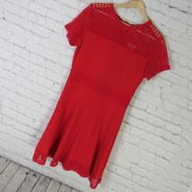 Michael Kors Dress Womens Large L Red Mesh MSRP $98 B09 - $55.87