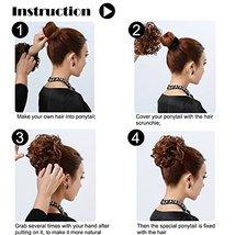 Abujia Messy Bun Hair Piece Hair Bun Extension Wavy Curly Messy Donut Hair Updo  image 6