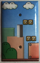 Super Mario Game background Light Switch Outlet Wall Cover Plate Home decor image 1