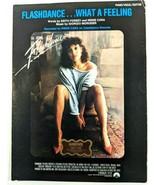 Flashdance What a Feeling Vintage Sheet Music 1983 Jennifer Beals Piano ... - $13.54