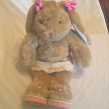 Vintage Build A Bear bunny rabbit bundle skirt sandals 18 in brown   - $26.99