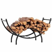 PHI VILLA Curved Firewood Rack Log Rack Log Storage Holder for Fireplace... - $63.65