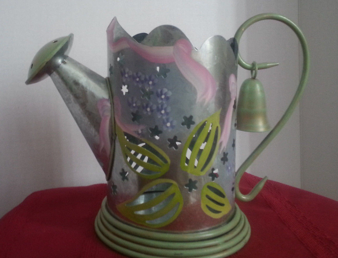 Partylite Lilac Watering Can Candle Holder Snuffer P7498 Retired Home Decor