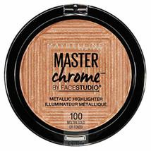 3x Maybelline Master Chrome Metallic Highlighter - 100 Molten Gold - $17.48