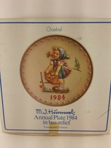 Vintage Hummel Annual Plate 1984  in Original Box; Hummel collectors plate  - $9.65