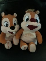 "Disney Bean Bag Plush Chip and Dale Chipmunks 7"" - $9.85"