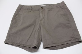 W13306 Womens OLD NAVY Tan Light Brown Stretch Cotton Twill CASUAL SHORT... - $12.60