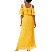Sangria Maxi Dress Cold Shoulder Yellow Sz 12 NEW Lace - $89.00
