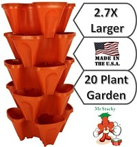 LARGE Vertical Gardening Stackable Planters by Mr. Stacky - Grow More Us... - ₹4,789.34 INR