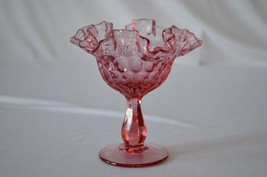 Fenton Colonial Pink Thumbprint Comport #4429 CP - $14.85
