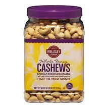 Wellsley Farms Lightly Roasted and Salted Whole Cashews, 40 oz. SA - $38.49