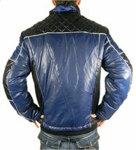 Ed Hardy By Christian Audigier Men's Premium Puffer Hot Nylon Jacket Blue image 4