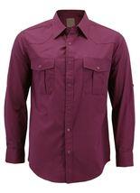 Men's Casual Western Pearl Snap Button Down Long Sleeve Cowboy Dress Shirt image 9