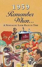 1959 Remember When KardLet RW1959 60th Gift - £10.65 GBP