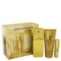 Paco Rabanne 1 Million Cologne 3.4 Oz EDT Spray + .34 Oz Mini + 3.4 Shower Gel image 1