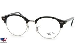 Ray Ban RB4246-V 2000 BLACK SILVER EYEGLASSES FRAME 4246 49-19-140 B43mm... - $37.13
