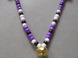 DAKOTA ~ HORSE RHYTHM BEADS ~ Purple, White, Black ~ Size 54 Inches - $17.00