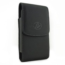 Black Vertical Leather Case Pouch For HTC myTouch 3G Slide Espresso myTouch2 - $6.09