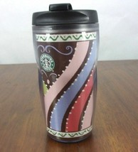 STARBUCKS COFFEE CO 2005 Plastic Travel Tumbler 8 oz Multi-Colored Strip... - $23.86