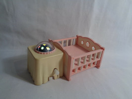 Epoch Sylvanian Families Pink / White Baby Nursery Replacement Crib w/ Lights - $18.76