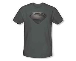 Authentisch Superman Man Of Steel Mos Shield Dc Comics Film Grau T-Shirt S-3Xl - $22.65