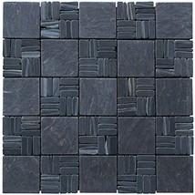 Intrend Tile LS010-S Landscape Wonder Black Slate Alternate Pattern Mosaic Tile