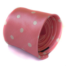 Pink and White Spotted Mens Tie by Frederick Thomas FT1132