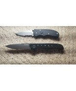 Two Small Steel Blade Gerber Folding Knives - $98.99