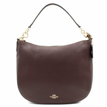 Coach Womens Polished Pebbled Oxblood  Leather Chelsea 32 Hobo Bag 58036 - $249.00