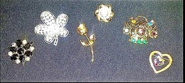 Brooches AB 730 Set of 6 Vintage image 2