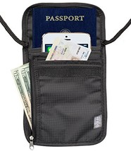 Travel Passport Holder Security Neck Stash Pouch Wallet with RFID Blocking - $12.45