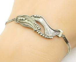 925 Sterling Silver - Vintage Ball Bead Detail Petite Chain Bracelet - B... - $26.94