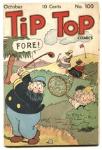 Tip Top Comics #100 1944- Captain and the Kids- Golf cover G - $88.27