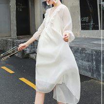 2Pcs Maternity Dress Set Fashion Solid Color V Neck Loose Casual Dresses Suit image 4