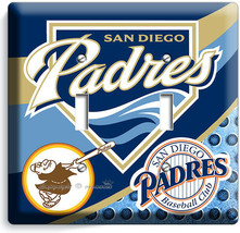 SAN DIEGO PADRES BASEBALL TEAM 2 GANG LIGHT SWITCH PLATES MAN CAVE ROOM ... - $12.99