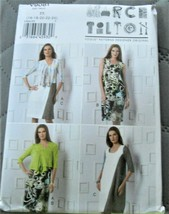Pattern Vogue Designer Cardigan & Dress March Tilton V9081 Uncut Factory... - $19.78