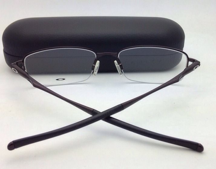 71a91f9c6d9 New OAKLEY Eyeglasses CLUBFACE OX 3102-0254 Semi-Rimless Polished Brown  Frames